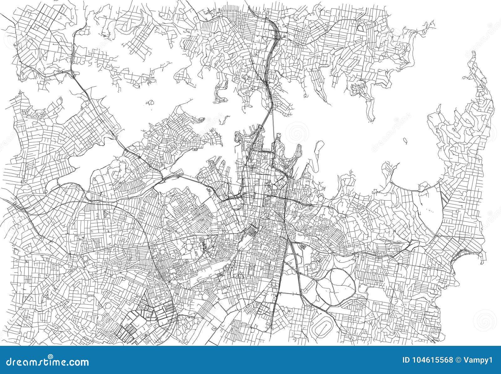 Οδοί του Σίδνεϊ, χάρτης πόλεων, Αυστραλία