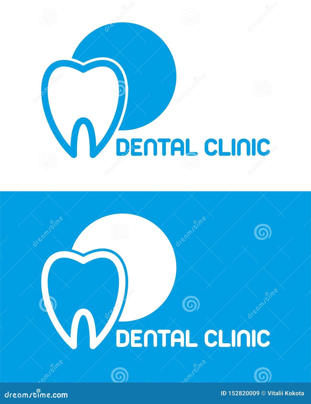 ΟΔΟΝΤΙΚΟ ΛΟΓΟΤΥΠΟ ΚΛΙΝΙΚΩΝ διάνυσμα ζουλιγμάτων μπλε λογότυπο γραμμή δοντιών σύμβολο οδοντιάτρων