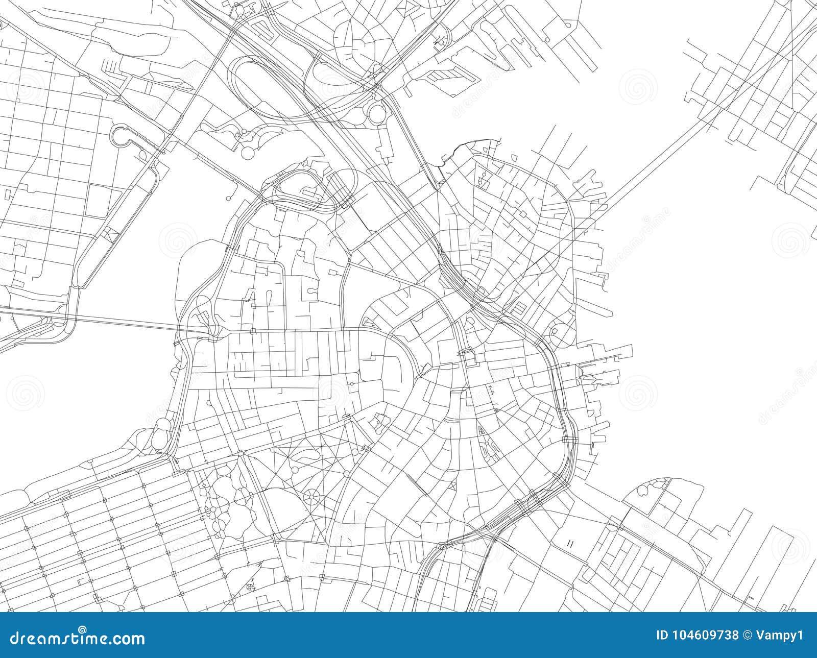 Οδός της Βοστώνης, χάρτης πόλεων, Μασαχουσέτη, Ηνωμένες Πολιτείες