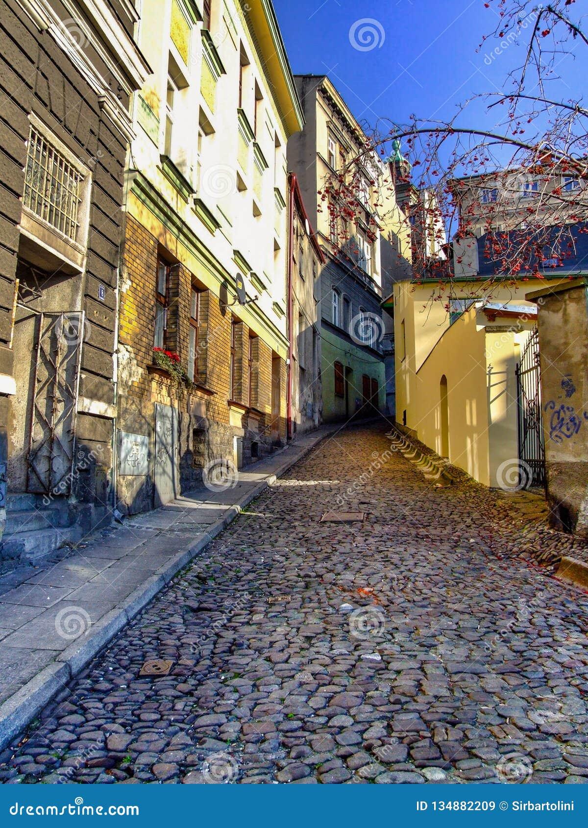 Οδός Braci Trzech σε Cieszyn στην Πολωνία
