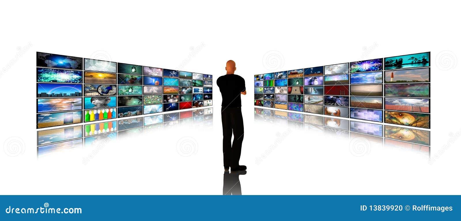 οθόνες μέσων