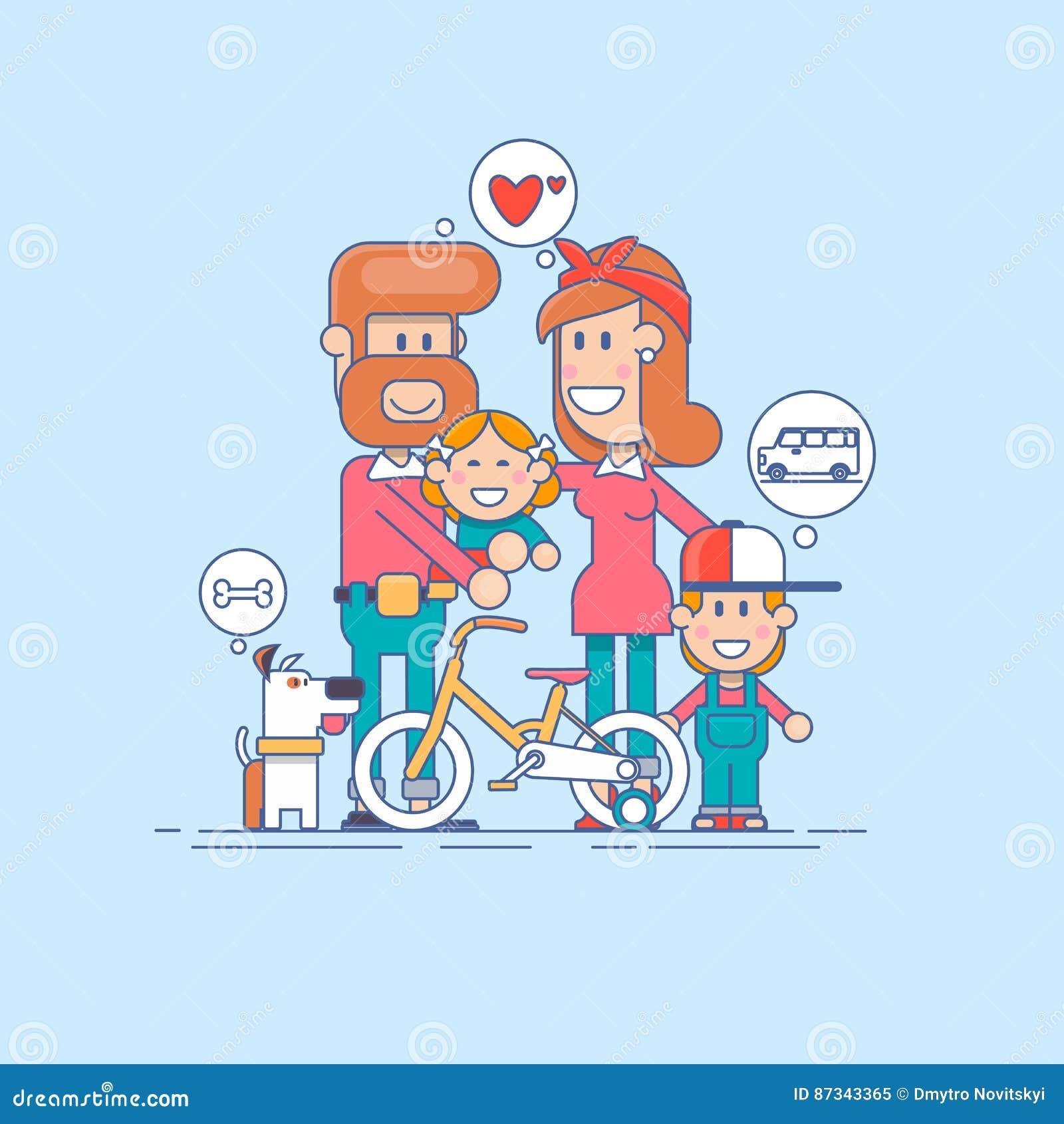 οικογένεια ευτυχής Πατέρας, μητέρα και γιος δύο παιδιών που έχουν τη διασκέδαση και που παίζουν στη φύση το παιδί κάθεται στους ώ