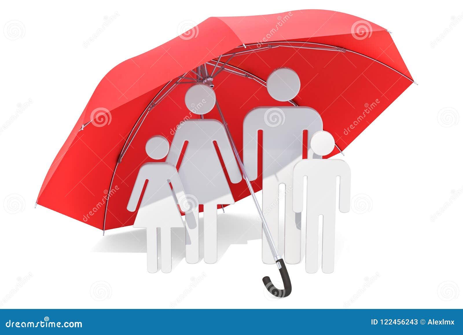 οικογενειακή ομπρέλα κά& Υγειονομική περίθαλψη και έννοια ιατρικής ασφάλειας