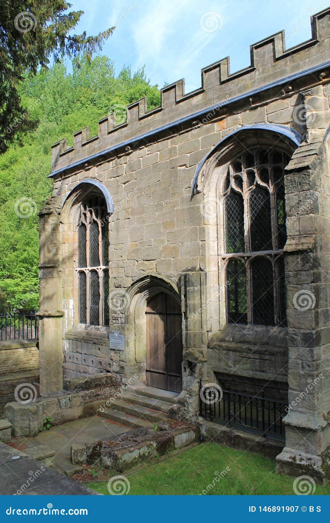 Οικοδόμηση παρεκκλησιών του ST Winefride κοντά επάνω, Ουαλία, UK