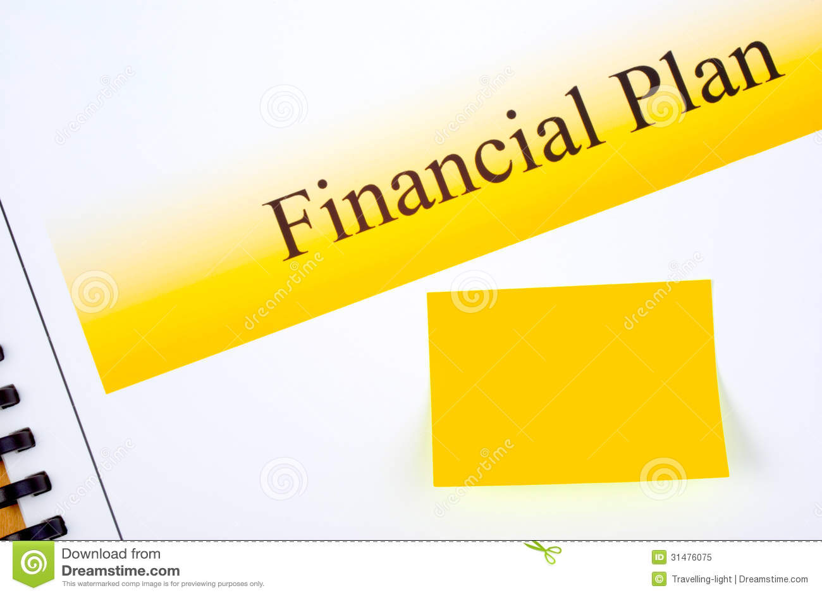 Οικονομικό σχέδιο με το ταίριασμα της κολλώδους σημείωσης