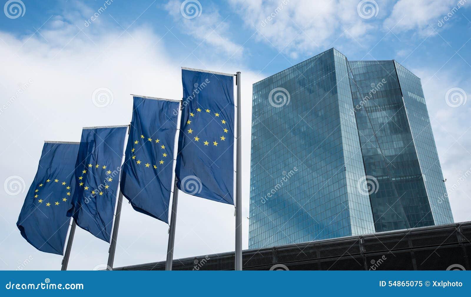 Οικοδόμηση της ΕΚΤ Ευρωπαϊκών Κεντρικών Τραπεζών στη Φρανκφούρτη