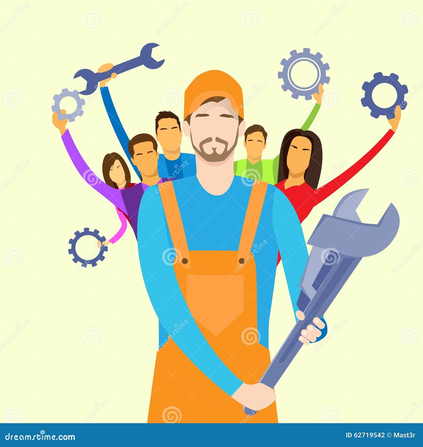 Οι άνθρωποι ομαδοποιούν τη λαβή ομάδας τεχνικής υποστήριξης υπηρεσιών