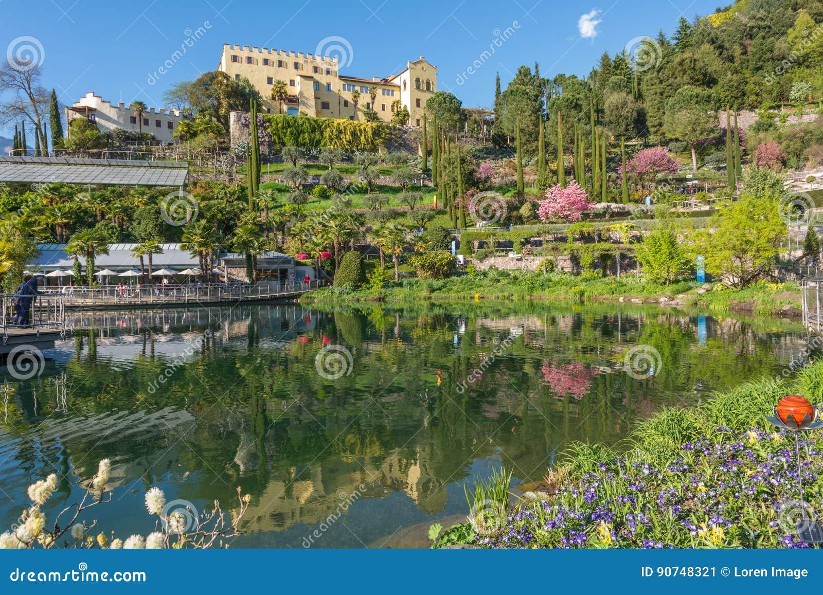 Οι βοτανικοί κήποι Trauttmansdorff Castle, Merano, νότιο Τύρολο, Ιταλία,