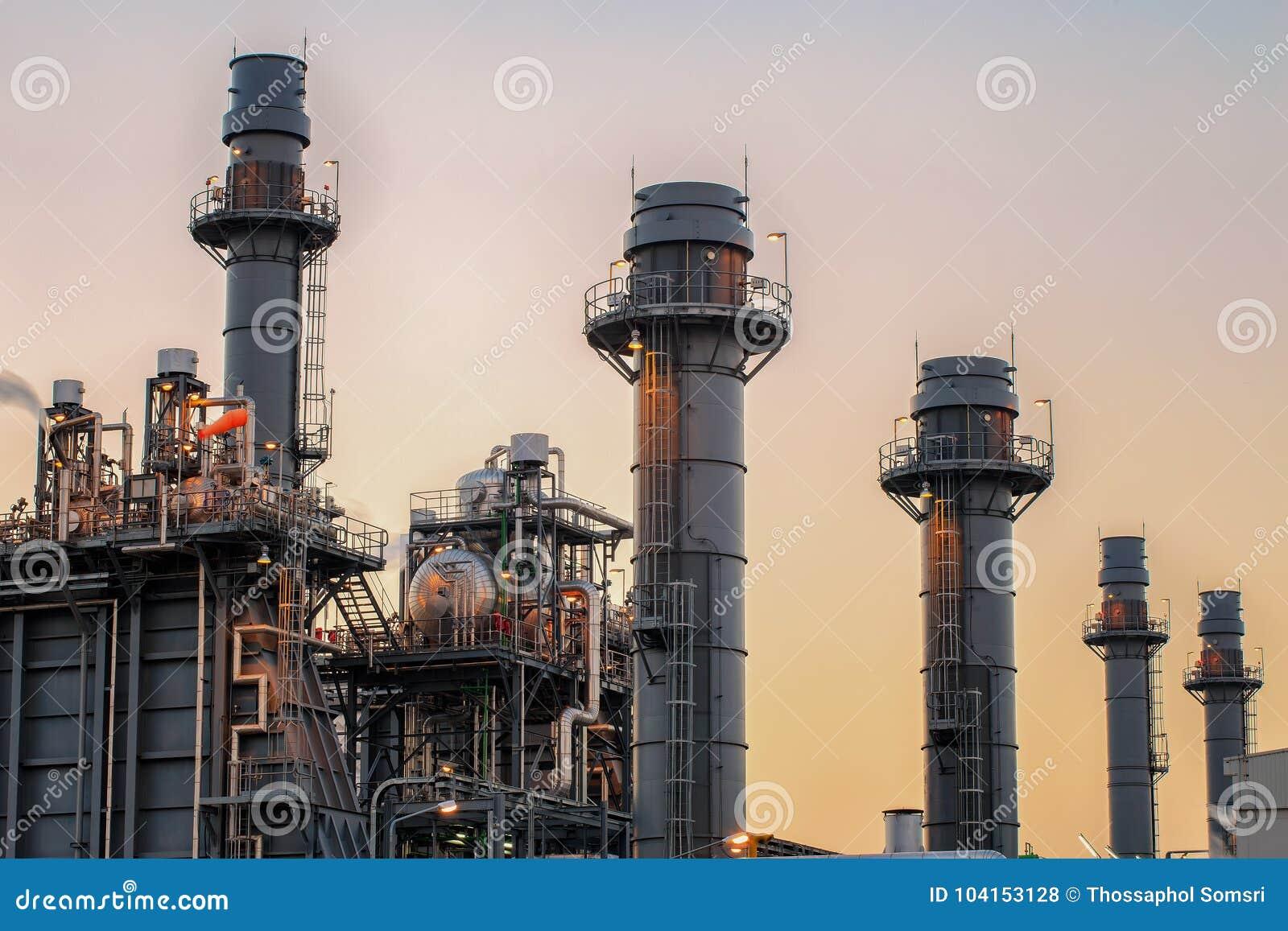 Οι εγκαταστάσεις ηλεκτρικής δύναμης στροβίλων αερίου με το λυκόφως είναι υποστήριξη όλο το εργοστάσιο
