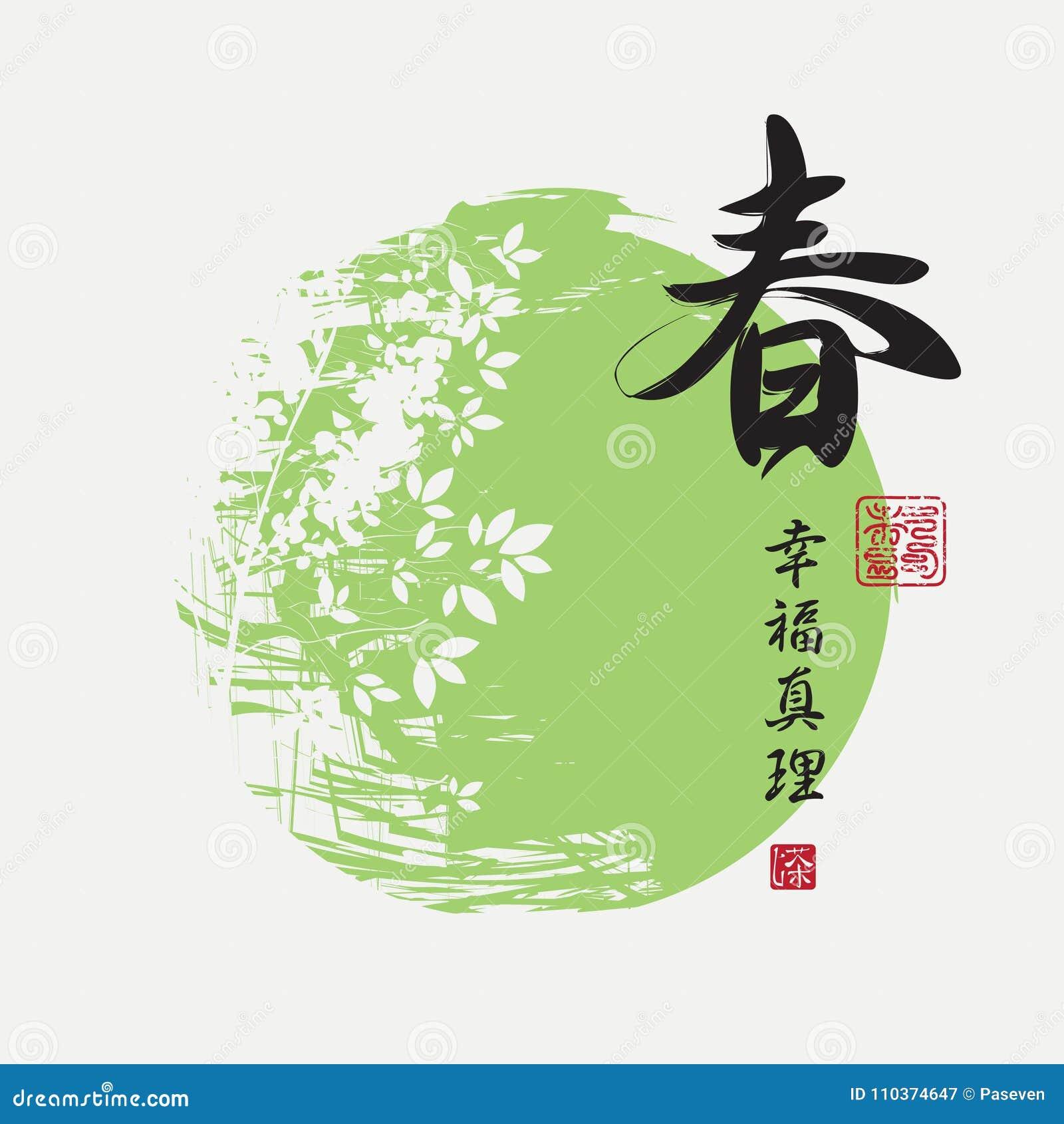 Οι κινεζικοί χαρακτήρες αναπηδούν, ευτυχία, αλήθεια