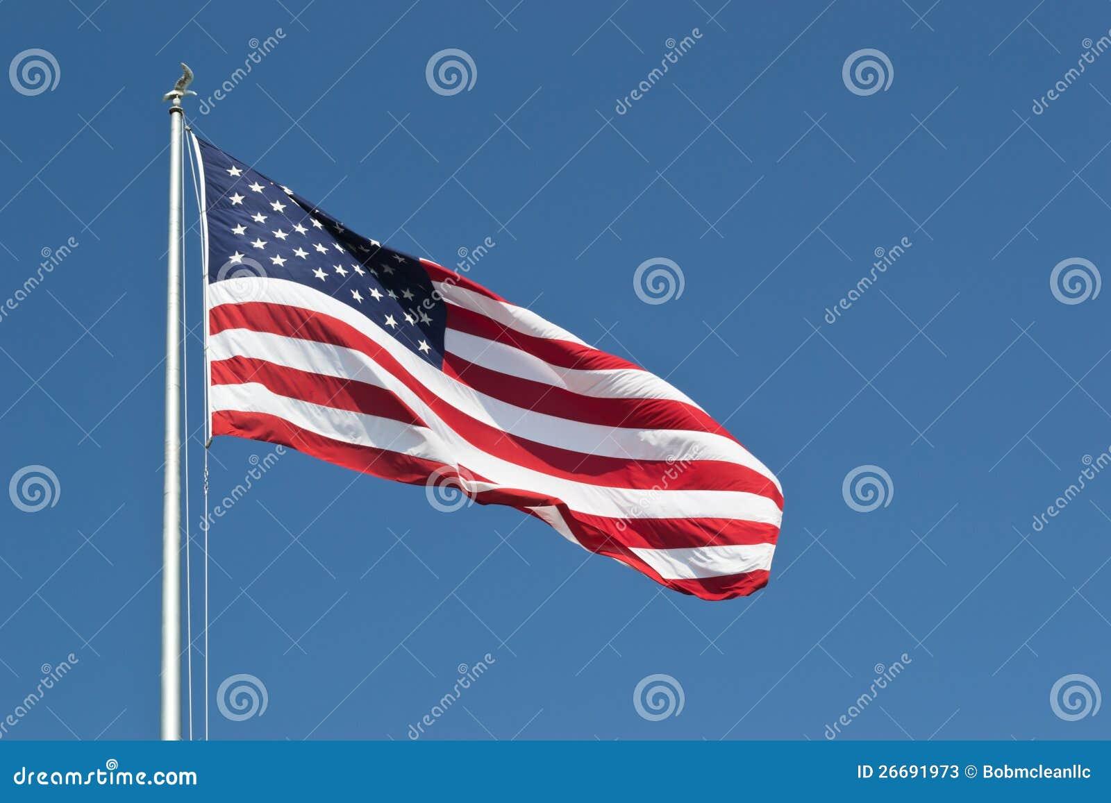 Οι μεγάλες Ηνωμένες Πολιτείες σημαιοστολίζουν οριζόντιο