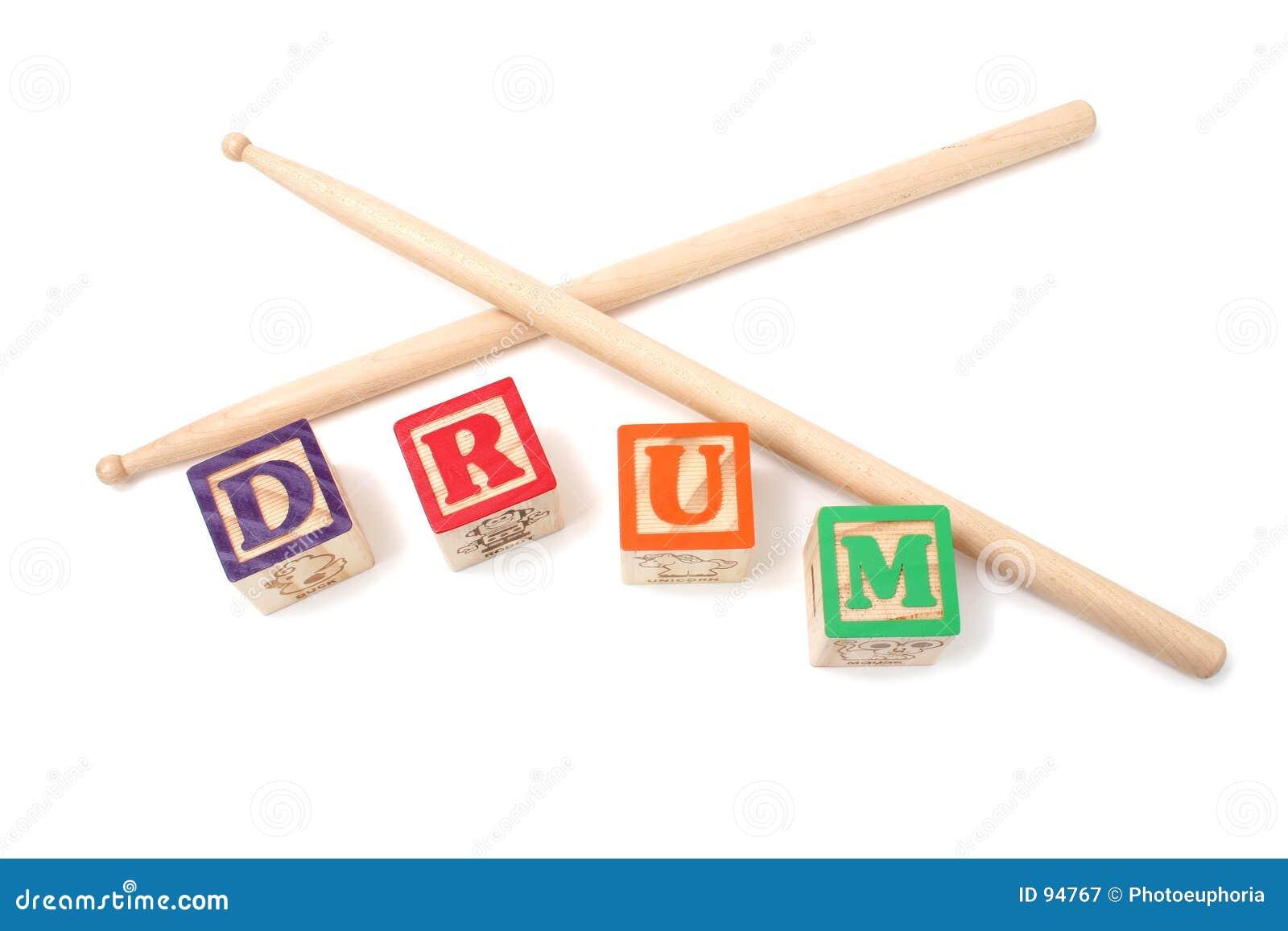 οι ομάδες δεδομένων αλφάβητου παίζουν τύμπανο το ραβδί