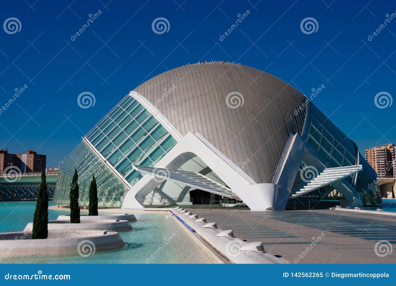 οι τέχνες μπορούν hemisferic λ les Palau reina πόλεων de επιστήμες να δουν τη Σόφια Αρχιτέκτονες Σαντιάγο Calatrava και καντέλα τ