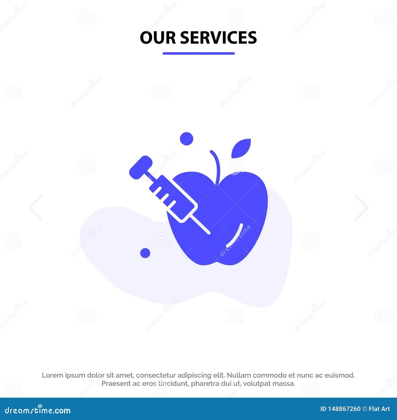 Οι υπηρεσίες μας Apple, βαρύτητα, στερεό πρότυπο καρτών Ιστού εικονιδίων Glyph επιστήμης