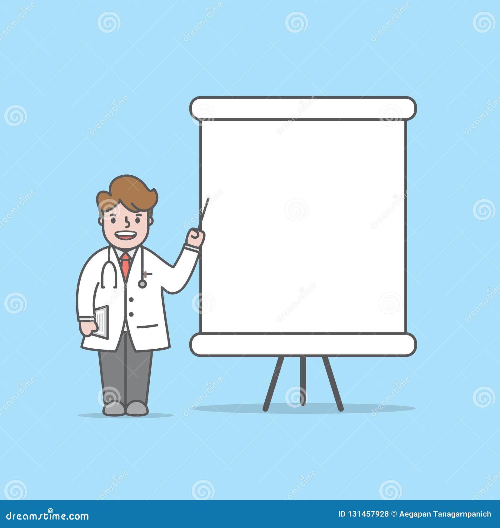 Οι χαρακτήρες γιατρών μιλούν με το διάνυσμα απεικόνισης παραθύρων κειμένου whiteboard στο μπλε υπόβαθρο βουρτσίζοντας διάνυσμα δο