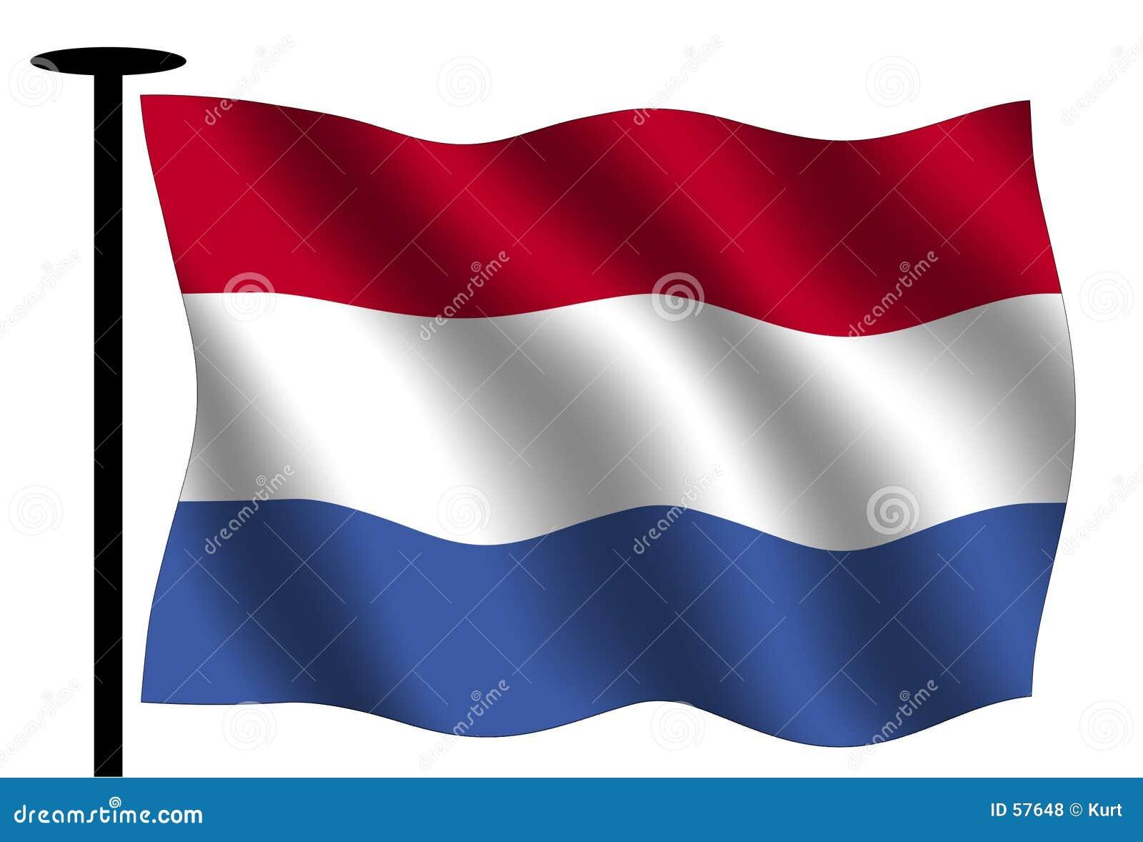 Download ολλανδικός κυματισμός σημαιών Απεικόνιση αποθεμάτων - εικονογραφία από απομονωμένος, κόκκινος: 57648