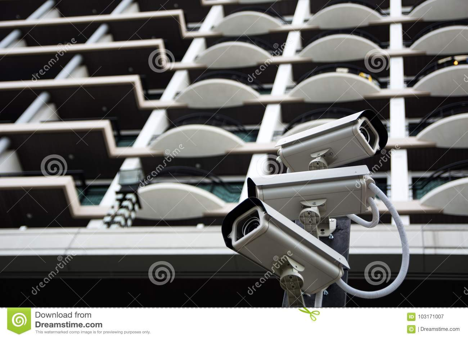 Ομάδα κάμερων ασφαλείας CCTV