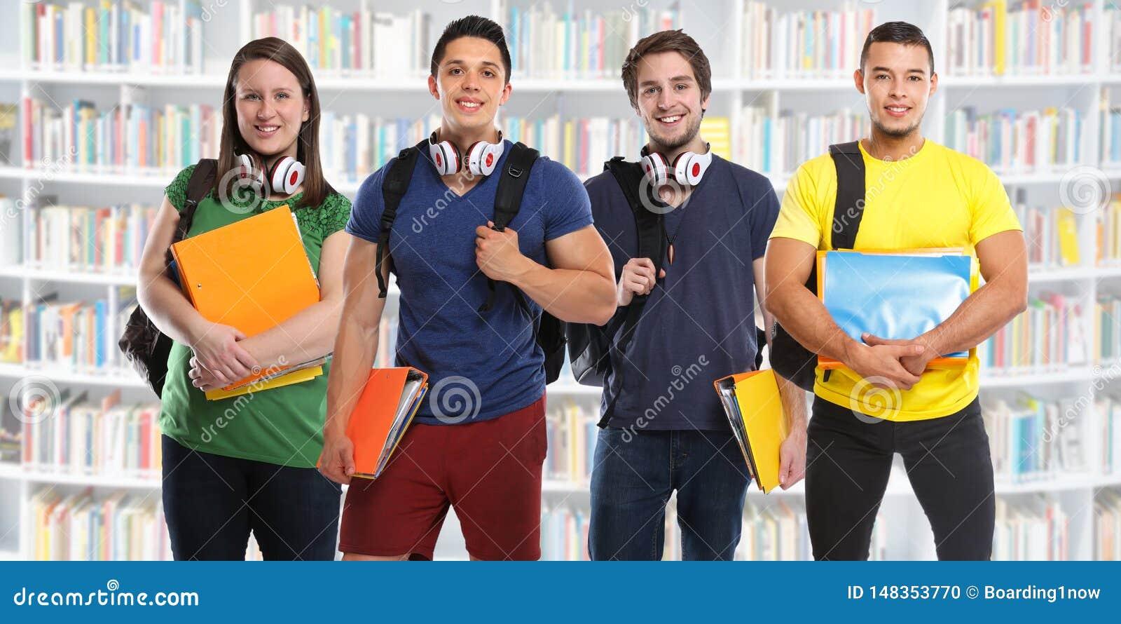 Ομάδα νέων βιβλιοθηκών εκπαίδευσης μελέτης σπουδαστών