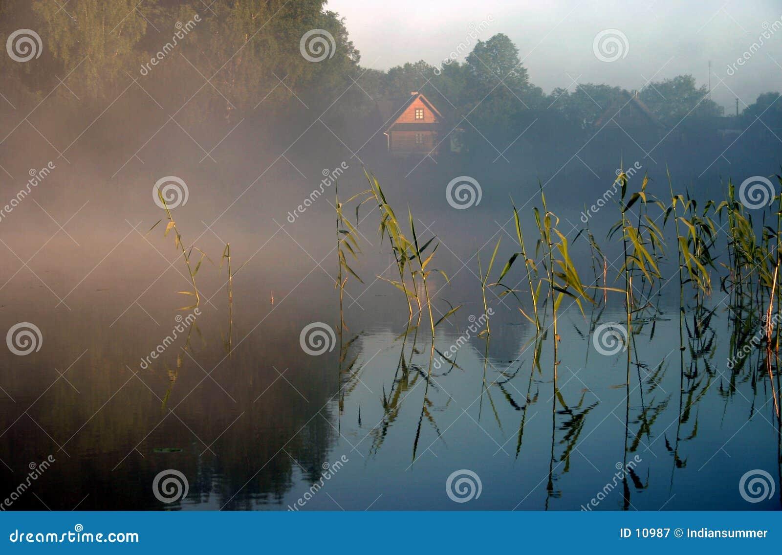 ομιχλώδες IV πρωί λιμνών