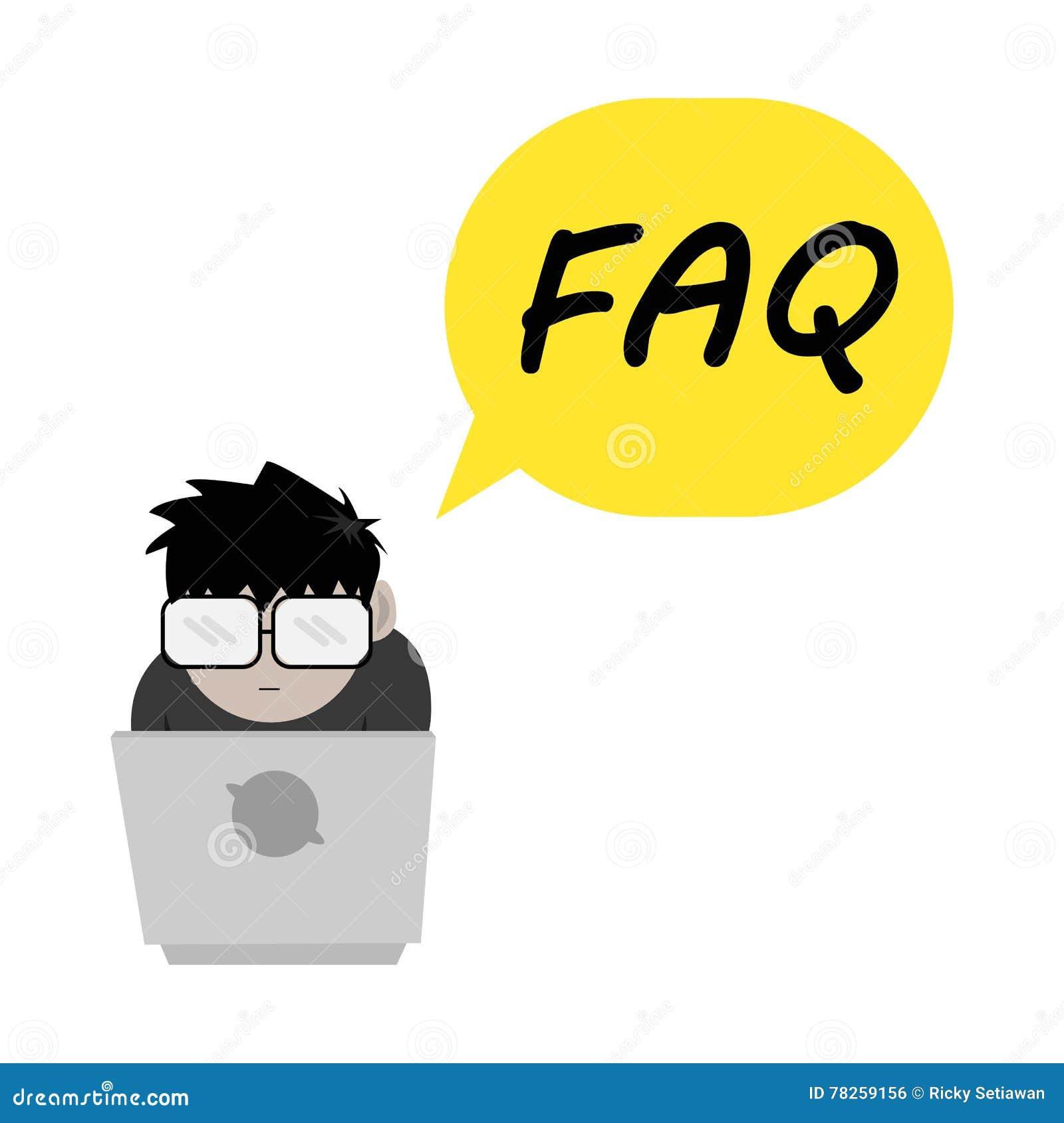 Ομιλία φυσαλίδων τύπων FAQ Nerd