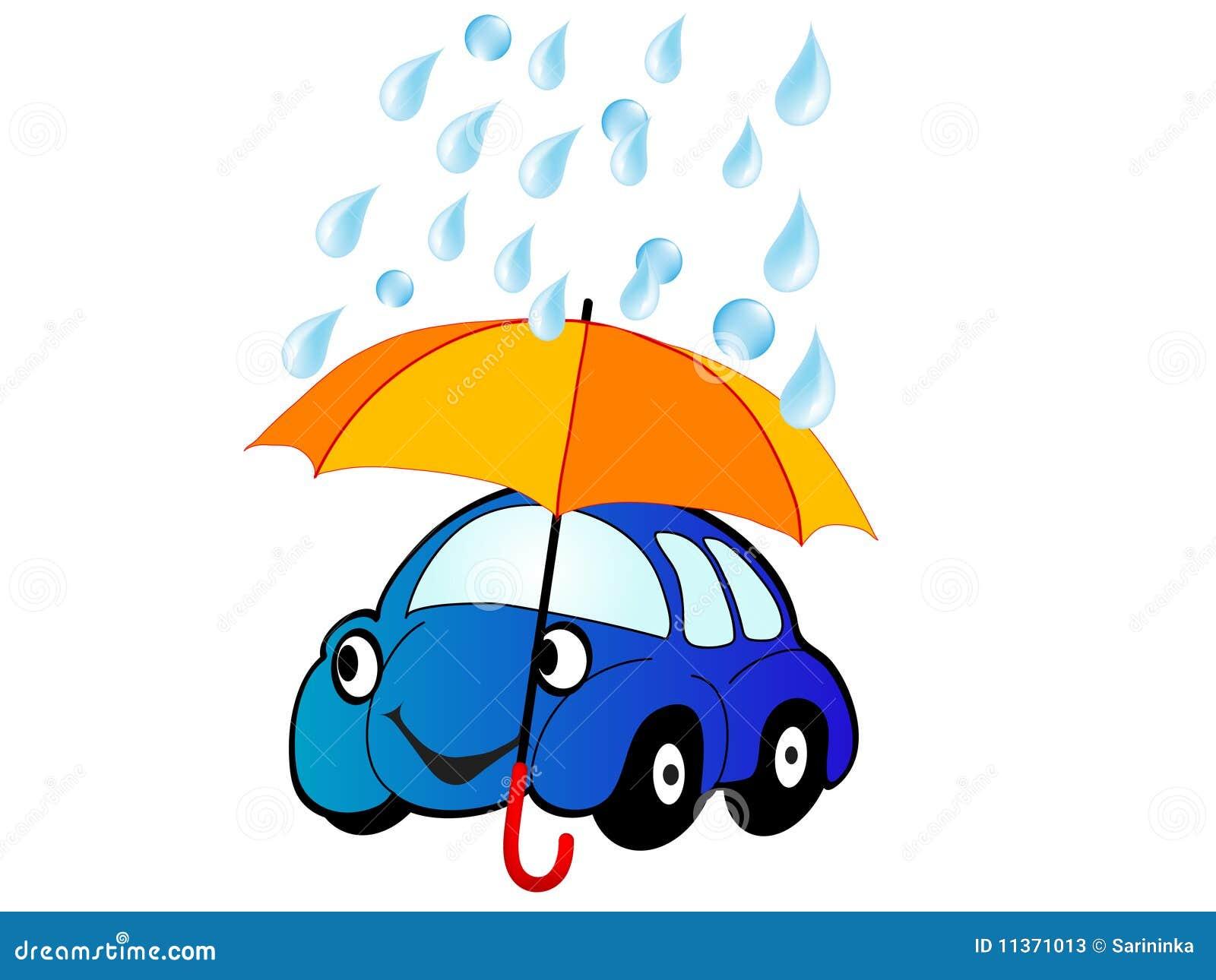 ομπρέλα αυτοκινήτων κάτω
