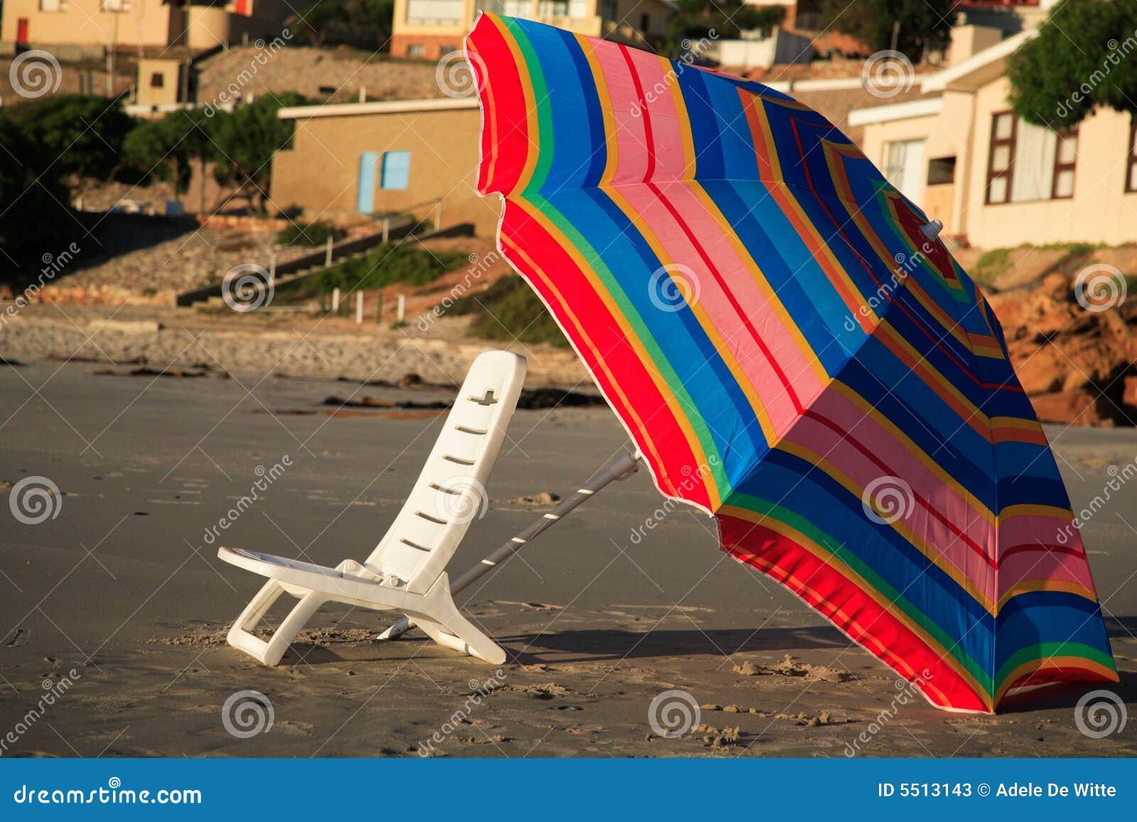 ομπρέλα ηλιοβασιλέματος εδρών παραλιών