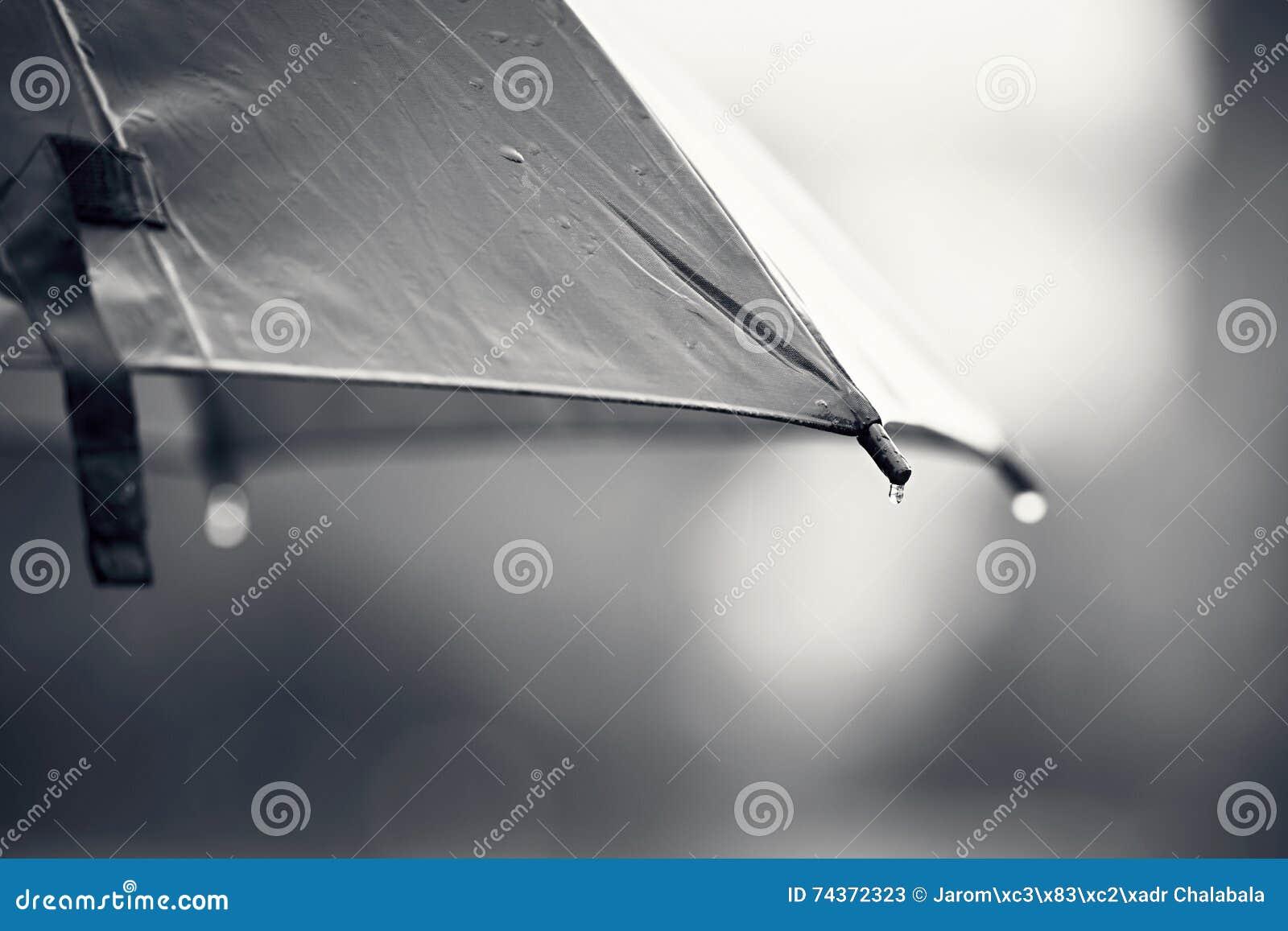 Ομπρέλα κατά τη διάρκεια της βροχής
