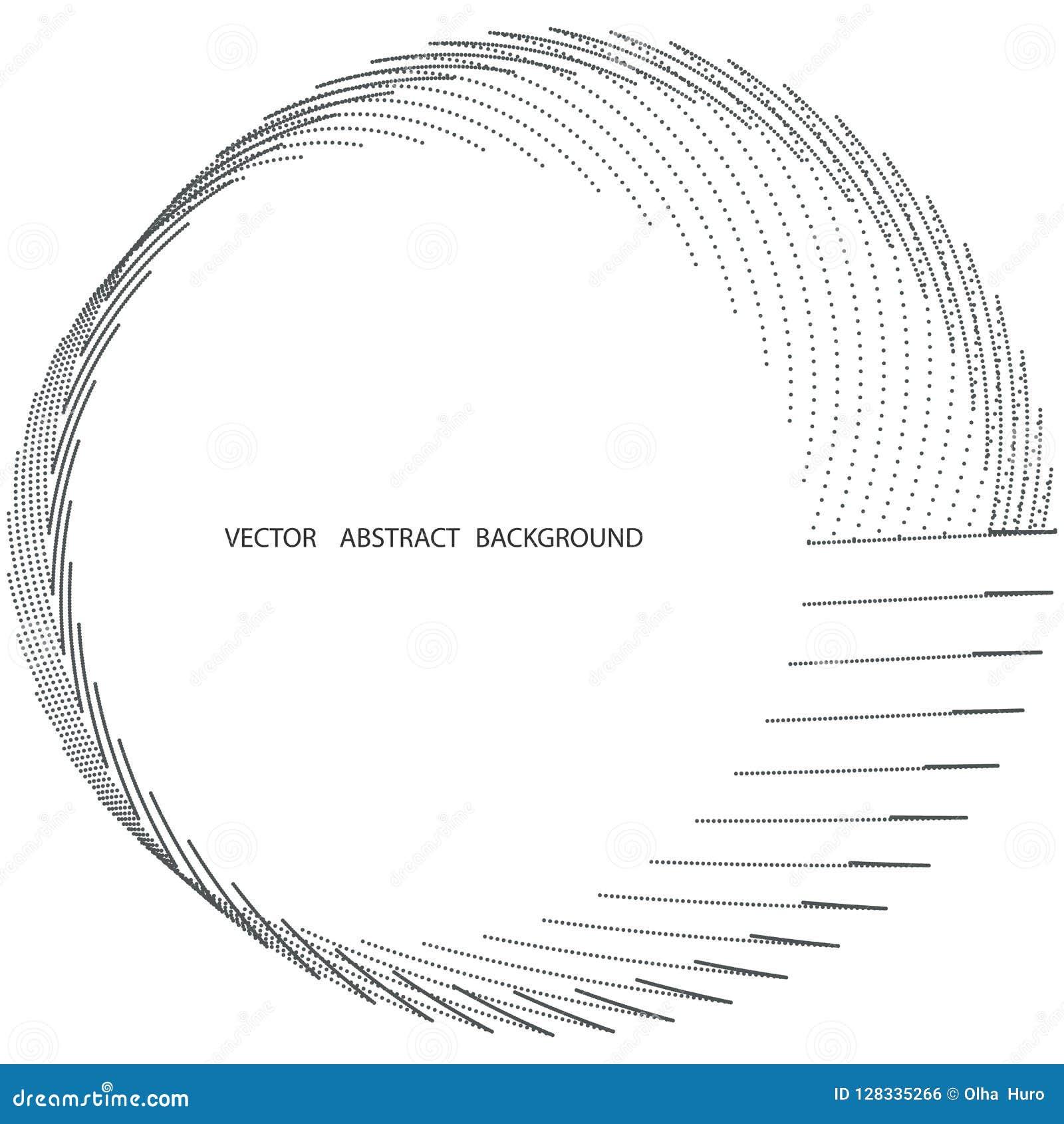 Ομόκεντρη κυκλοφορία, γραμμή κύκλων και σημείο Αφηρημένα γραμμή δίνης και υπόβαθρο σημείων