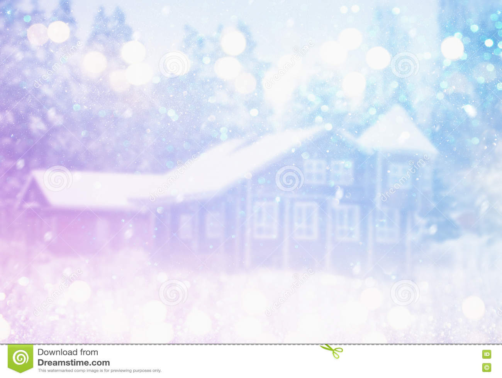 Ονειροπόλος και αφηρημένη μαγική φωτογραφία χειμερινών τοπίων