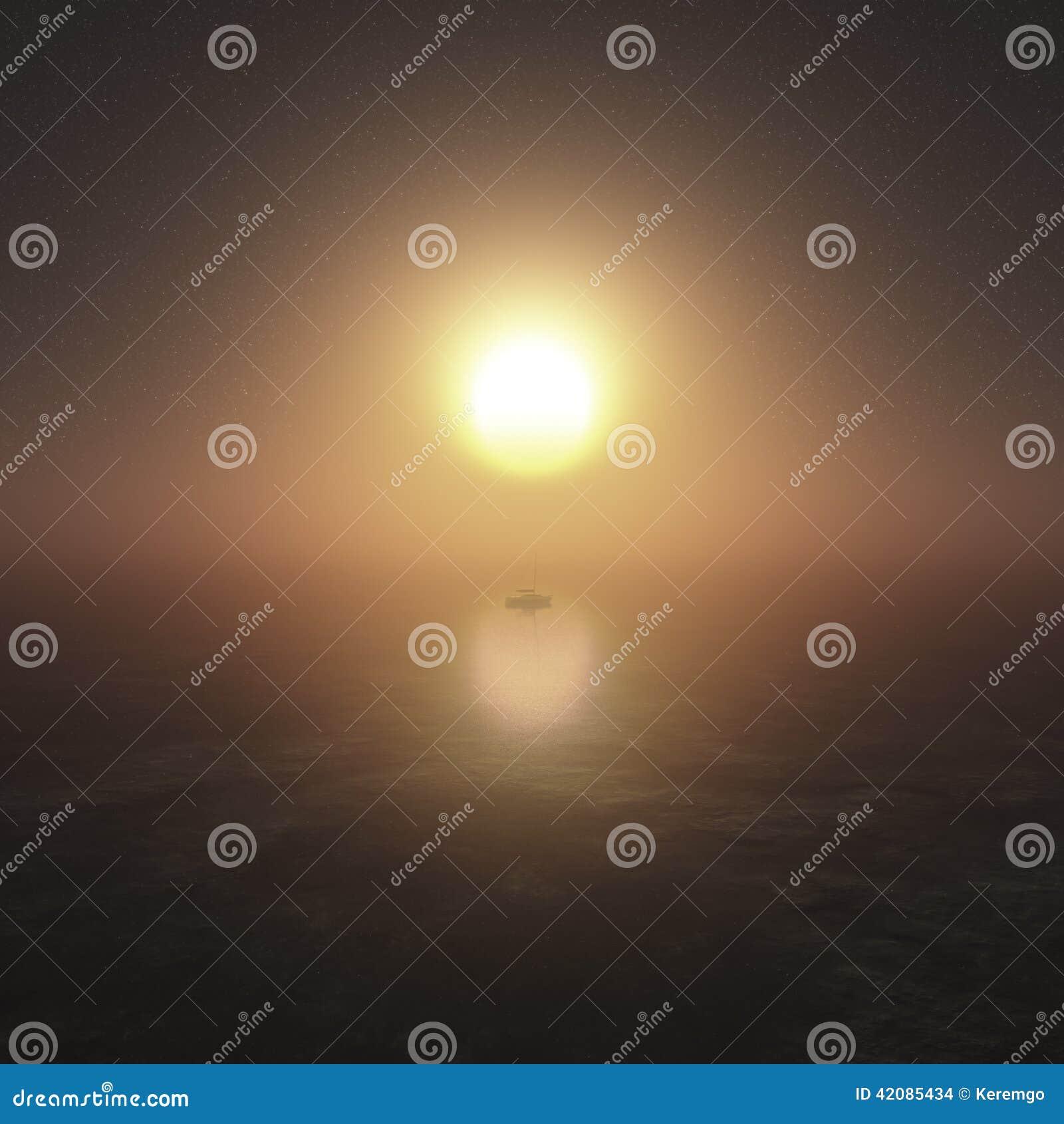 Ονειροπόλος σκηνή ηλιοβασιλέματος