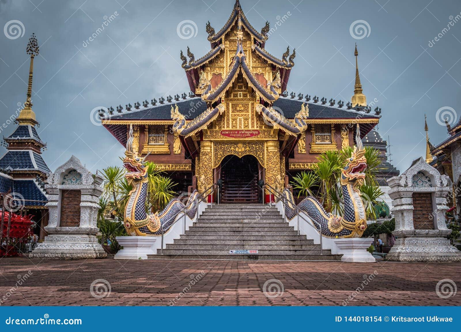 """Ονομασμένο """"Wat κρησφύγετο απαγόρευσης Salee Sri Muang Gan Wat κρησφύγετων """"της Ταϊλάνδης ναός"""