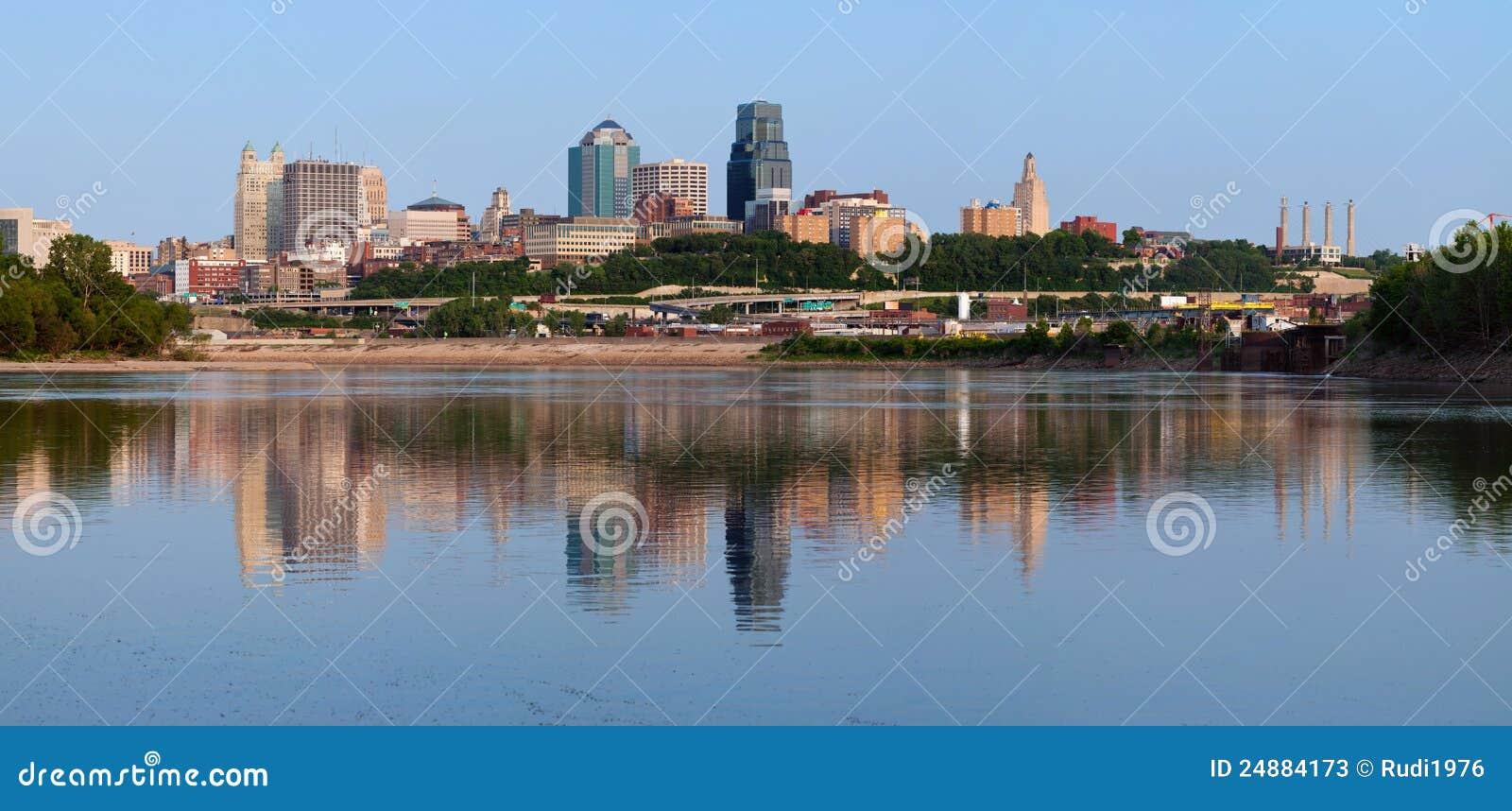ορίζοντας πανοράματος του Κάνσας πόλεων