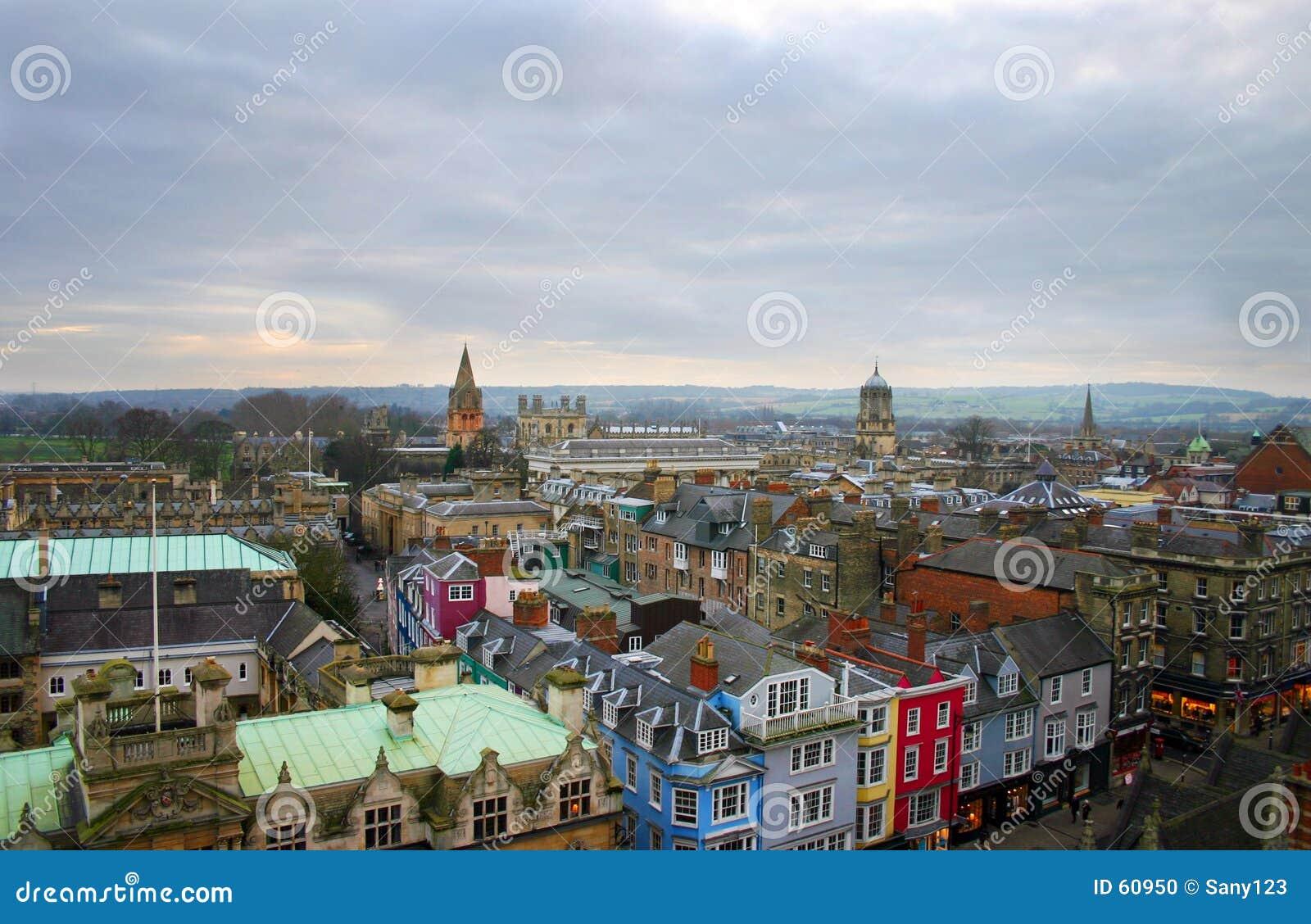 ορίζοντας της Αγγλίας Οξφόρδη πόλεων