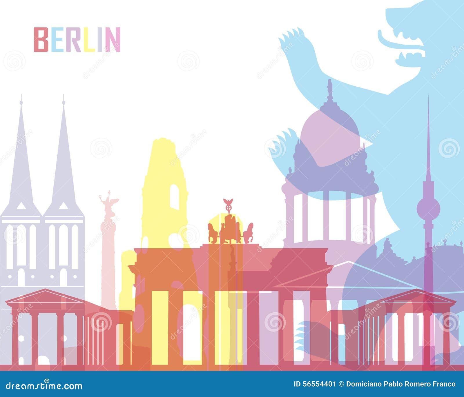 Download Ορίζοντας του Βερολίνου λαϊκός Απεικόνιση αποθεμάτων - εικονογραφία από ορόσημο, berna: 56554401