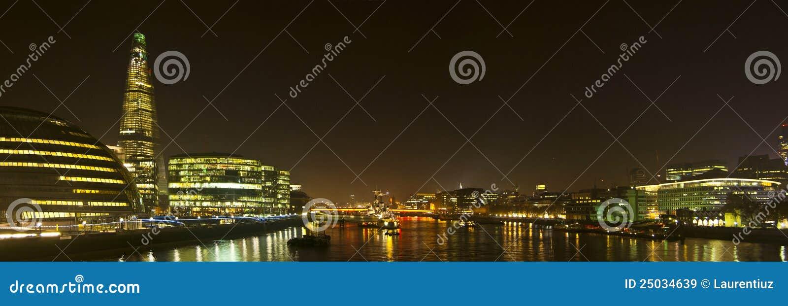 Ορίζοντας του Λονδίνου από τη γέφυρα πύργων