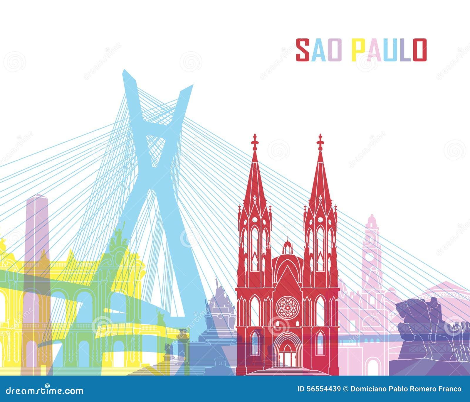 Download Ορίζοντας του Σάο Πάολο λαϊκός Απεικόνιση αποθεμάτων - εικονογραφία από μνημεία, απεικόνιση: 56554439