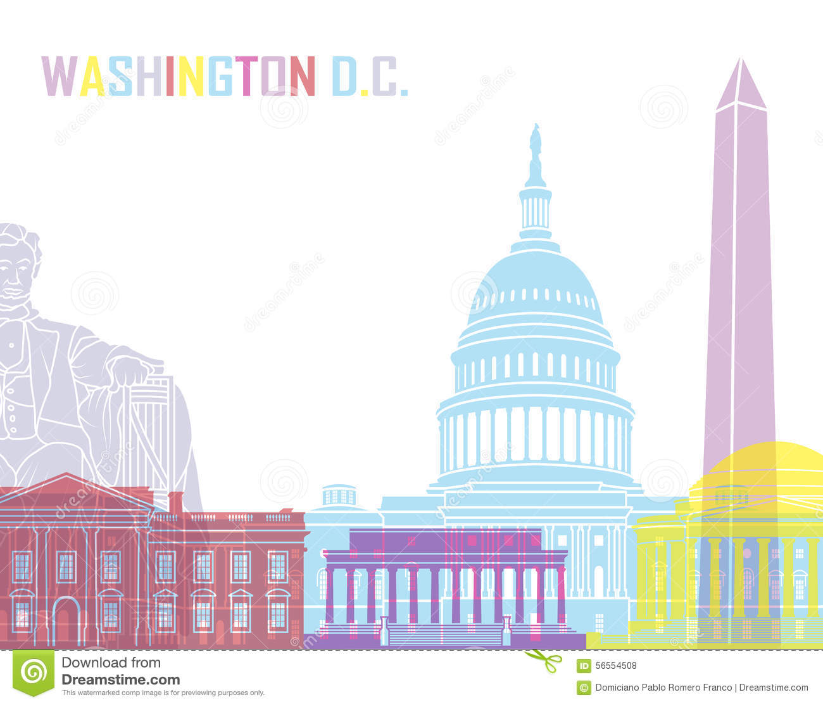 Download Ορίζοντας του Washington DC λαϊκός Απεικόνιση αποθεμάτων - εικονογραφία από popcorn, ανασκόπησης: 56554508