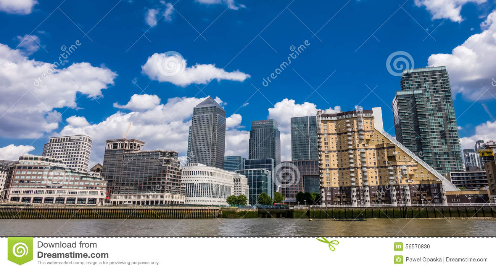 Download Ορίζοντας Canary Wharf εκδοτική εικόνα. εικόνα από επιχείρηση - 56570830