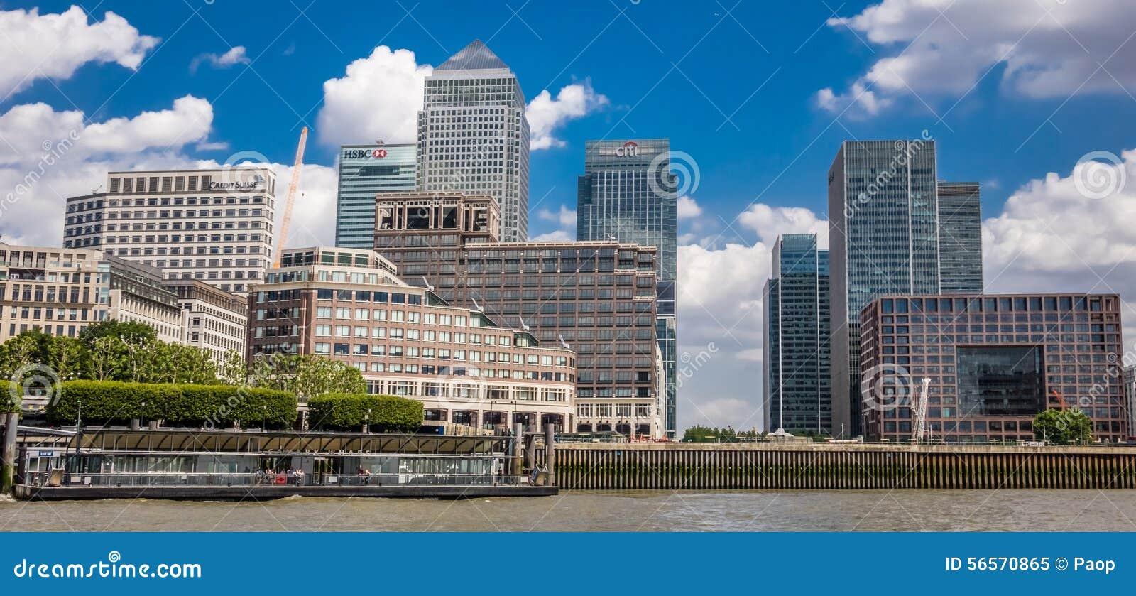 Download Ορίζοντας Canary Wharf εκδοτική εικόνα. εικόνα από συγκεκριμένος - 56570865