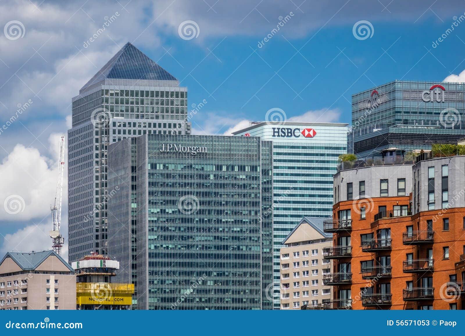 Download Ορίζοντας Canary Wharf εκδοτική στοκ εικόνες. εικόνα από πόλη - 56571053