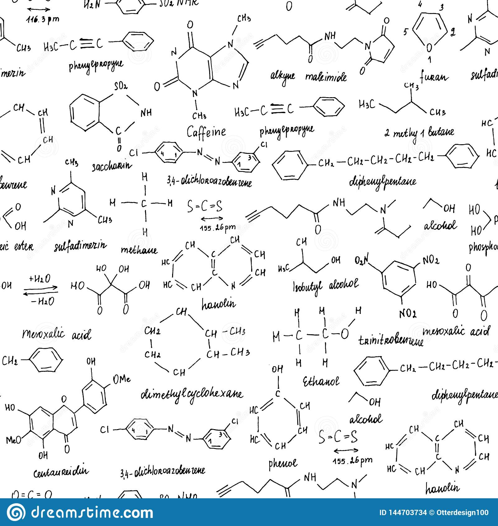 Οργανικές ενώσεις Άνευ ραφής σύσταση Σκίτσο του σχολικού πίνακα με την οργανική ένωση χημείας Οργανικός