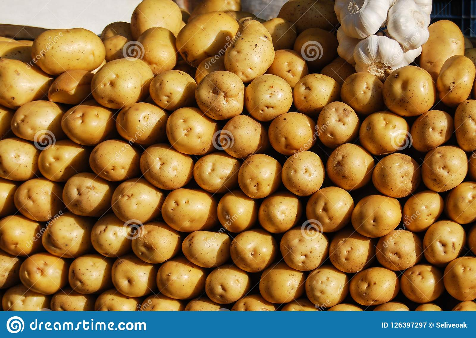 Οργανικές νέες πατάτες στην αγορά Ανασκόπηση λαχανικών
