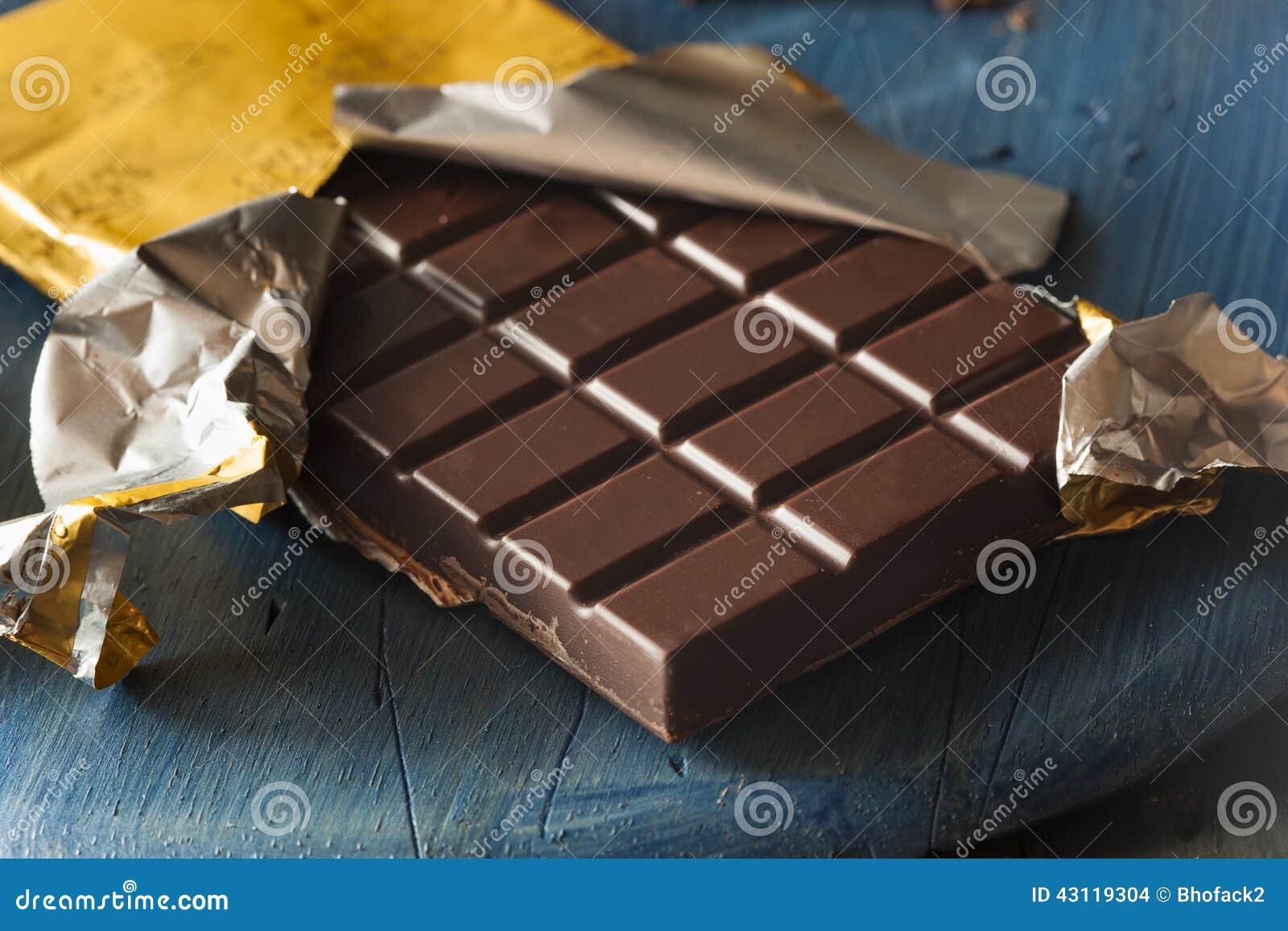 Οργανικός σκοτεινός φραγμός καραμελών σοκολάτας