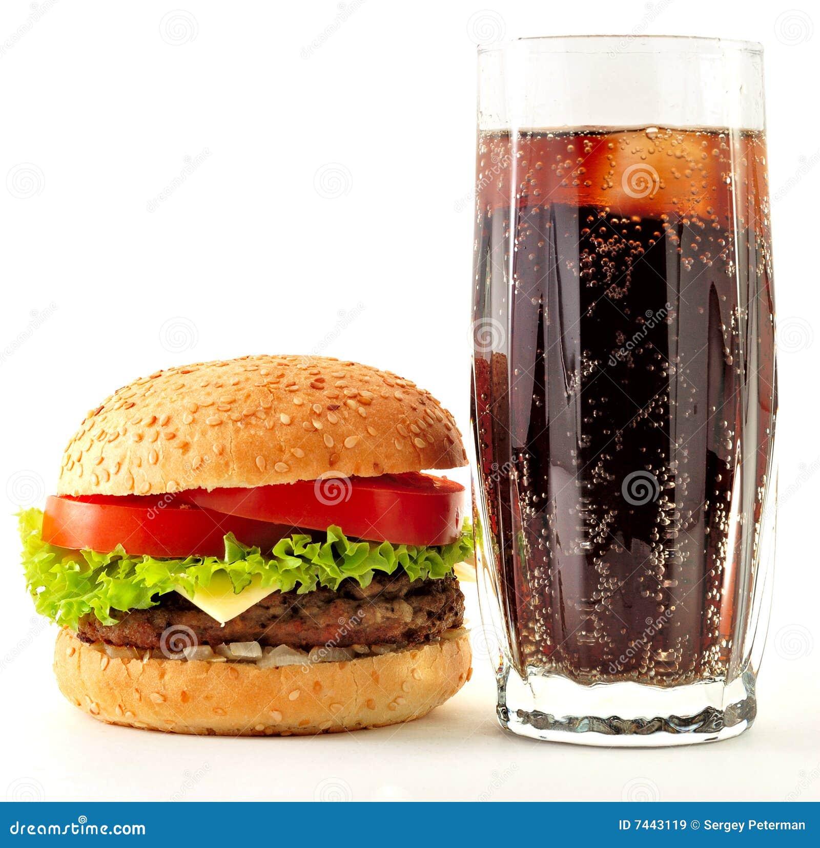 ορεκτική cheeseburger κόλα
