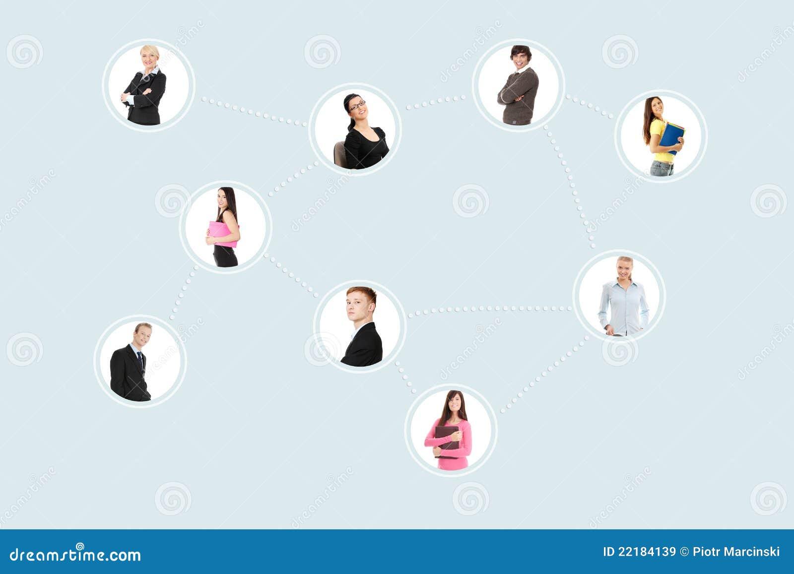 οριακό δίκτυο businesspeople