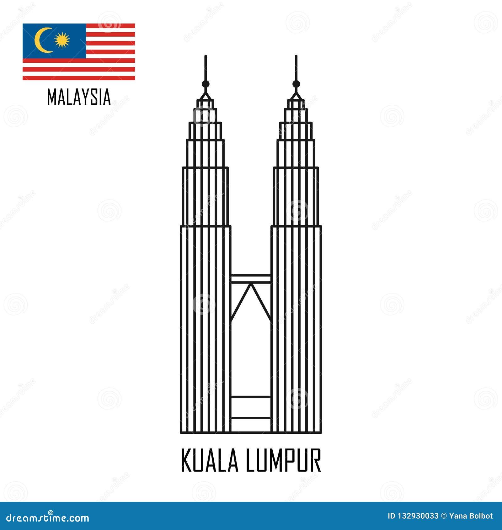 Ορόσημο της Μαλαισίας πύργοι petronas της Κουάλα Λουμπούρ