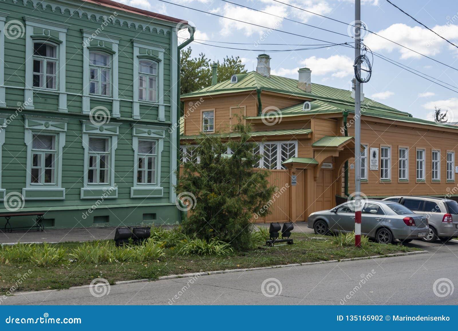 Ουλιάνοφσκ, Ρωσία - 10 Αυγούστου 2018: Σπίτι-μουσείο της οικογένειας Λένιν Ulyanov σε Simbirsk Ουλιάνοφσκ - κίτρινο χρώμα στο rig