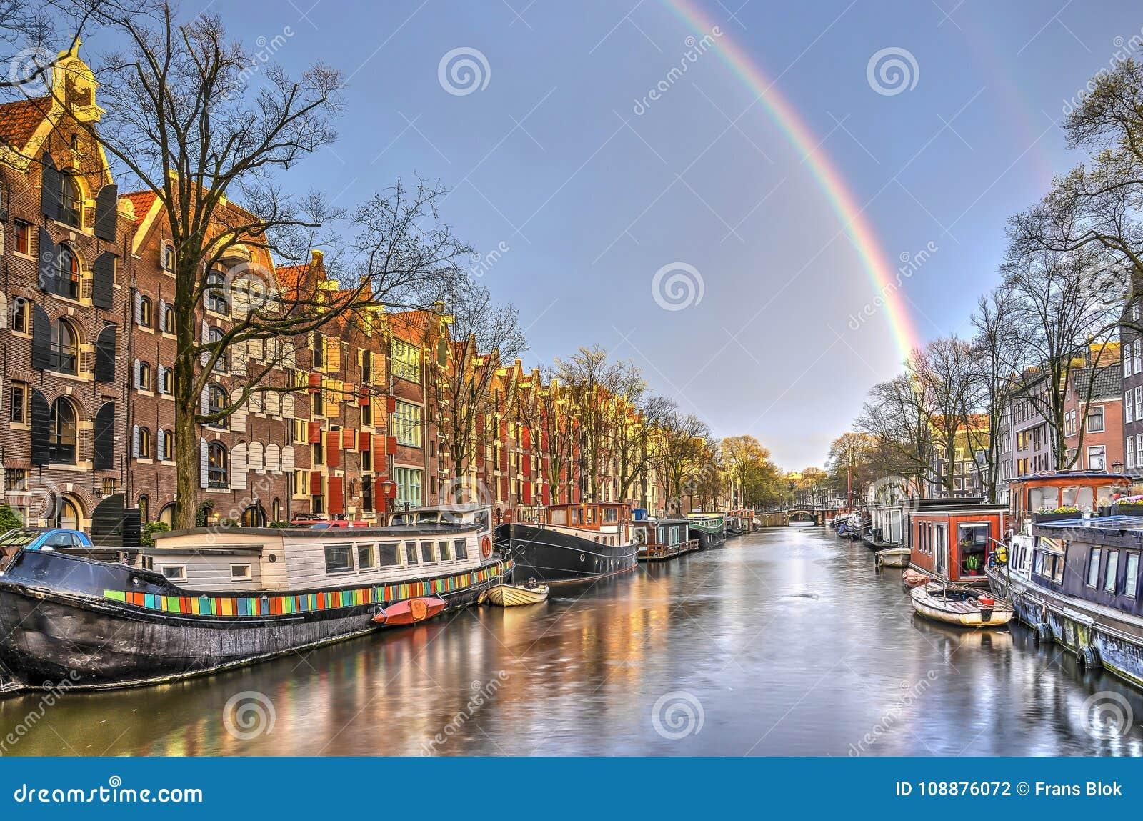 Ουράνιο τόξο στο Άμστερνταμ