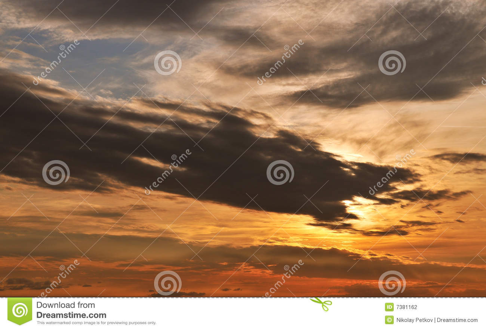 Ουρανός ηλιοβασιλέματος