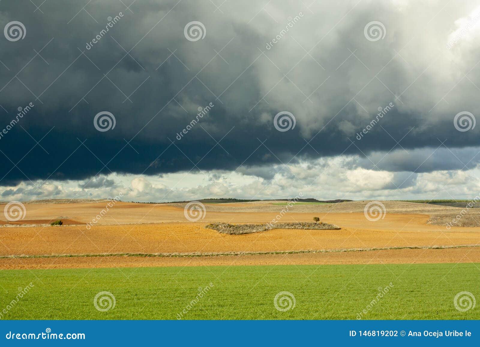 Ουρανός θύελλας στον τομέα Soria, Ισπανία
